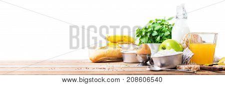 Banner Organic Ingredients Healthy Breakfast