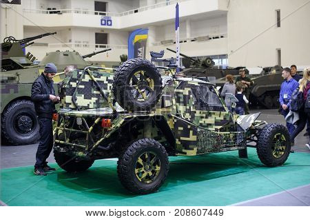 Military Buggy Of Ukrainian Production At The Exhibition