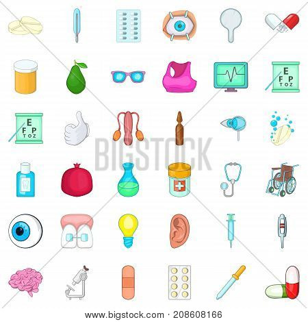 Tablet icons set. Cartoon style of 36 tablet vector icons for web isolated on white background