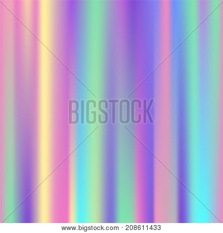 Universal holographic vector texture abstract color fills background surface illustration brochure. Colorful blur geometric fabric ornament.