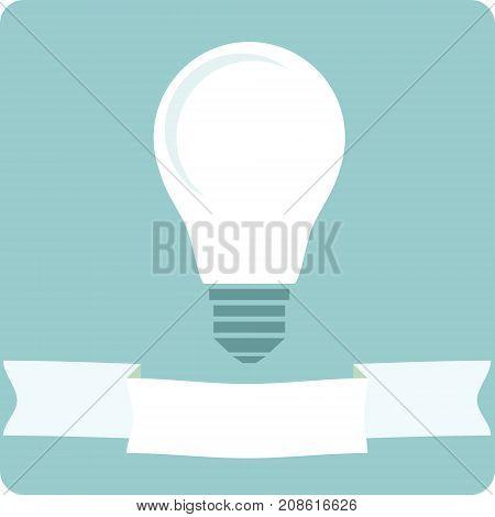 Icon light bulb lamp as emblem or logo, Stock Vector illustration.