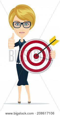 Marketing Target. Success concept portrait. Success concept portrait. Stock flat vector illustration.