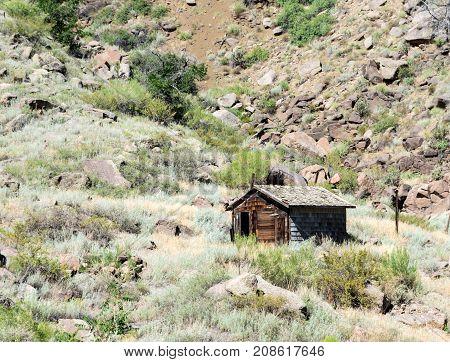 Deserted Clapboard Cabin