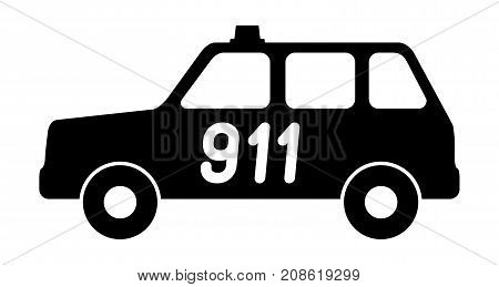 .The car service is 911 Vector illustration
