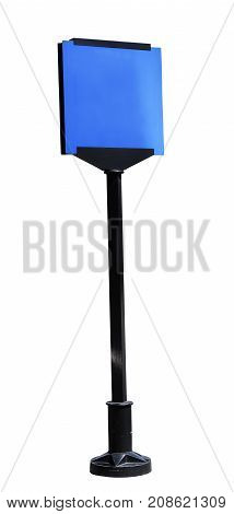 blank road signpost isolated on white background