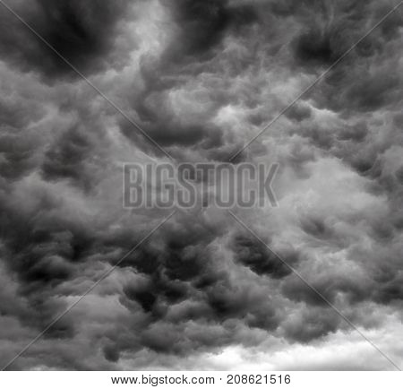 dramatic storm cloud background before thunder storm