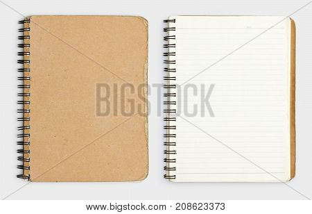 Realistic notebook . Template notebook. Blank cover design. Mock up notebook . Notebook realistic.
