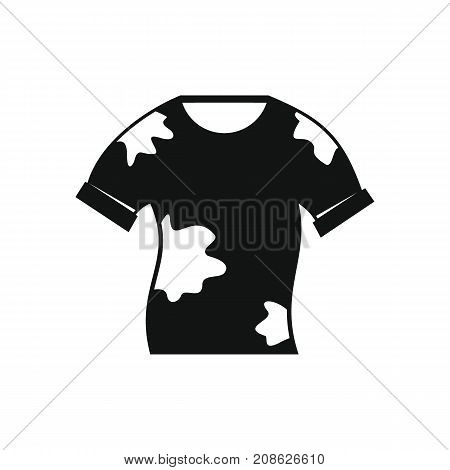 Dirt shirt icon. Silhouette illustration of Dirt shirt vector icon for web isolated on white background