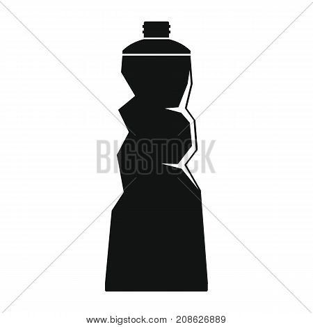 Crumpled tube icon. Silhouette illustration of Crumpled tube vector icon for web isolated on white background