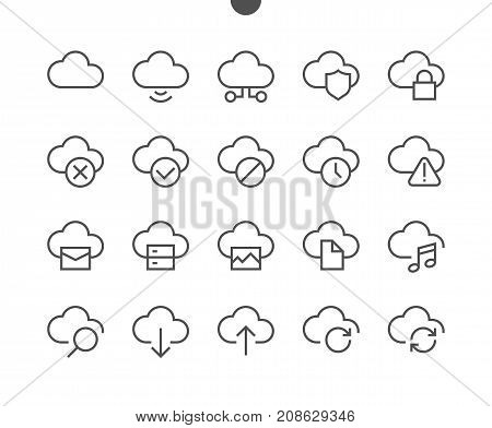 Network UI Pixel Perfect Well-crafted Vector Thin Line Icons 48x48 Ready for 24x24 Grid with Editable Stroke. Part 1-5
