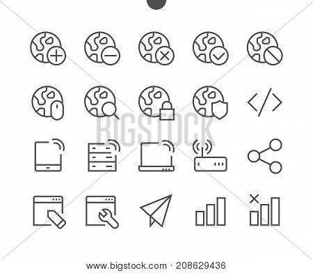 Network UI Pixel Perfect Well-crafted Vector Thin Line Icons 48x48 Ready for 24x24 Grid with Editable Stroke. Part 2-5