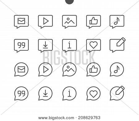 Messages UI Pixel Perfect Well-crafted Vector Thin Line Icons 48x48 Ready for 24x24 Grid with Editable Stroke. Simple Minimal Pictogram Part 5-5