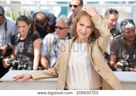 CANNES, FRANCE - MAY 19, 2016:  Nathalie Baye attends the 'It's Only The End Of The World (Juste La Fin Du Monde)'  photocall during the 69th annual Cannes Film Festival at the Palais des Festivals