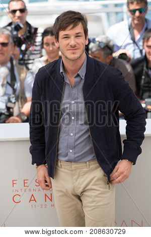 CANNES, FRANCE - MAY 19, 2016: Gaspard Ulliel  attends the 'It's Only The End Of The World (Juste La Fin Du Monde)'  photocall. 69th annual Cannes Film Festival at the Palais des Festivals