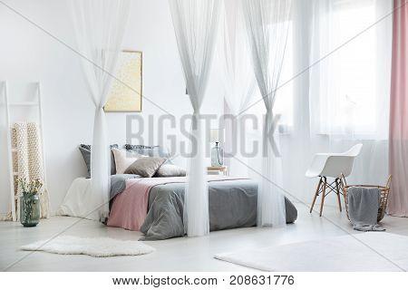 Cozy Bright Bedroom Interior