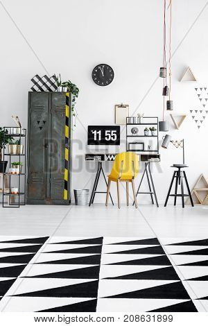 Triangle Carpet In Spacious Office