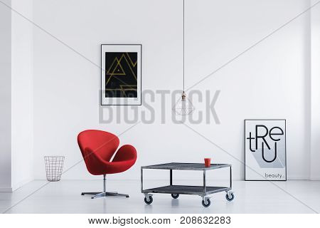 Waiting Room With Industrial Table