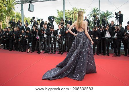 CANNES, FRANCE - MAY 16: Daria Strokous  attends the 'Loving' premiere during the 69th annual Cannes Film Festival at the Palais des Festivals on May 16, 2016 in Cannes