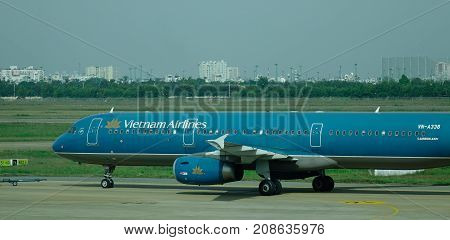 Tan Son Nhat Intl Airport In Saigon, Vietnam