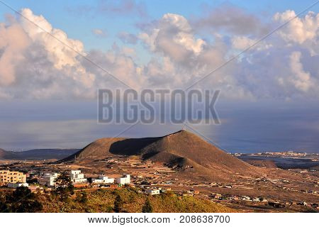 Landscape In Tenerfe Tropical Volcanic Canary Islands Spain