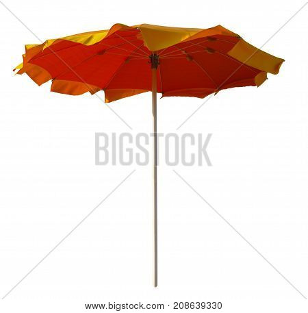 Red-yellow Umbrella Isolated