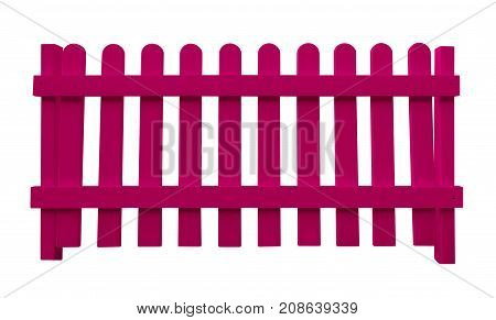 Wooden Fence - Pink
