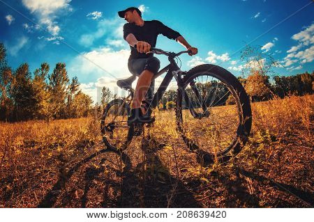 Young Athletic Guy On A Sports Bike