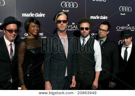 LOS ANGELES - JUN 11:  Fitz and the Tantrums arrive at the 10th Chrysalis Butterfly Ball at Private Home on June 11, 2011 in Brentwood, CA