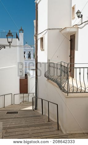 Characteristic alleyway of Massafra. Puglia. Southern Italy.