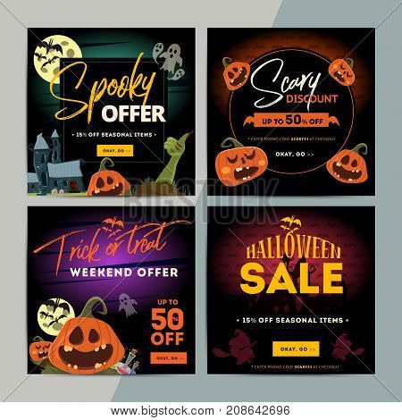 Set Of Creative Social Media Sale Web Banners Design For Online Shop Or Store. Trendy Vector Ad Offe