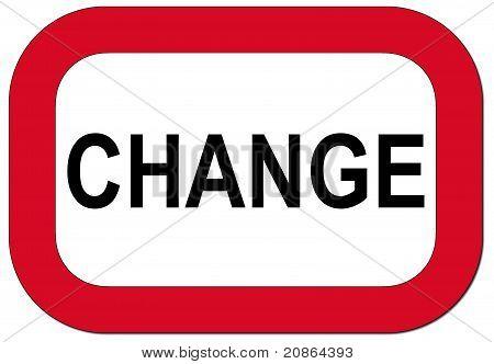 Warning sign change