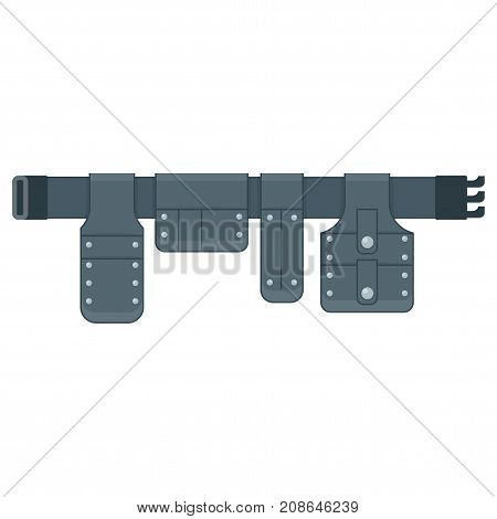 Tool belt vector. Flat vector cartoon illustration. Objects isolated on white background.
