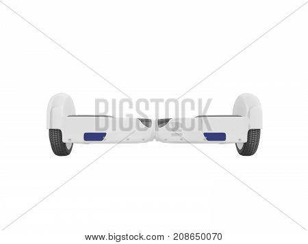 Gyroboard White Front 3D Render On White Background No Shadow