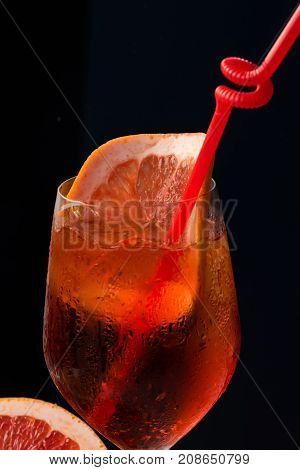 Cocktail Isolated On Black Background.