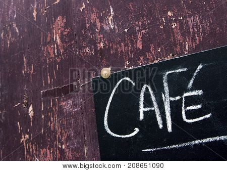 Sign Of A Cafe