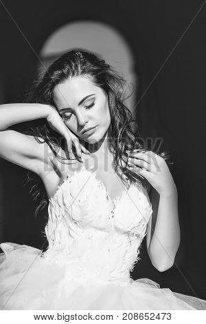 Sensual Brunette Bride