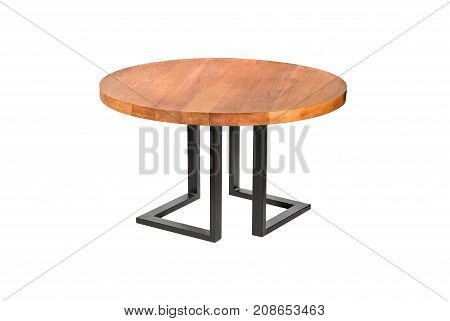 A Wooden Or Stone Table On A White Background