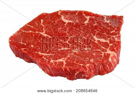 Marbled Beef Steak Isolated On White