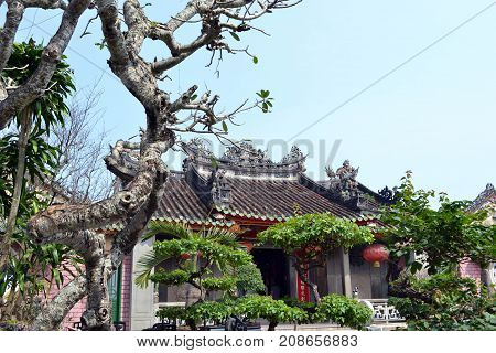 The Structures With Chinese Influence Around Hoi An, Danang, Vietnam