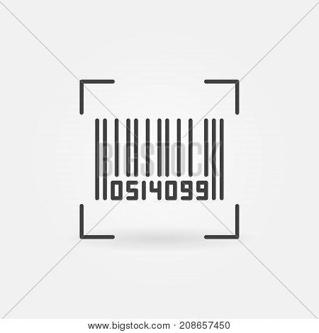 Bar code vector concept icon or symbol in thin line style