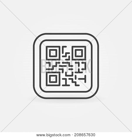 QR Code modern vector icon or symbol in thin line style