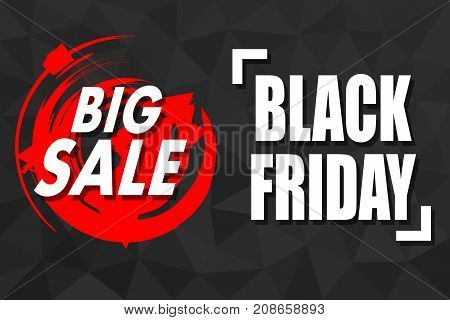 Big Friday banner for the world day of sales. Vector illustration.