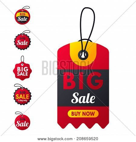 Super sale extra bonus red banners text label business shopping internet promotion discount offer vector illustration. Internet promotion shopping advertising discount promotional marketing.