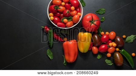 Vegetables Placed On Table