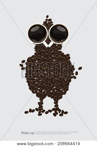 Coffee Poster Concept Advertisement Flayers Vector Illustration