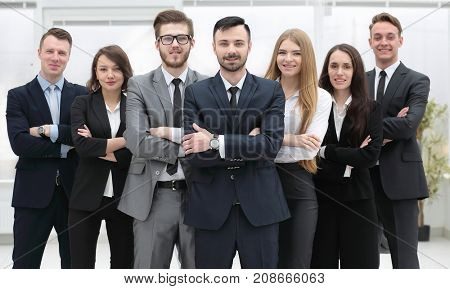 group portrait.project managers and business team