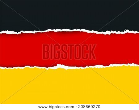 Ripped Paper Germany Flag Vector