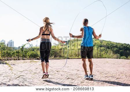 Jumping On Skipping Ropes