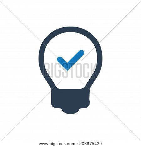 Beautiful, meticulously designed lightbulb solution Icon.