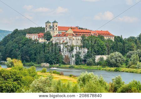 Beautiful historic monastery. Benedictine abbey in Tyniec near Krakow Poland.